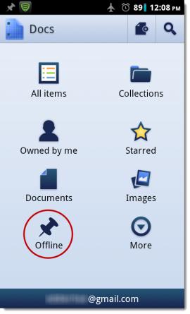 Google Doc Offline Settings 2